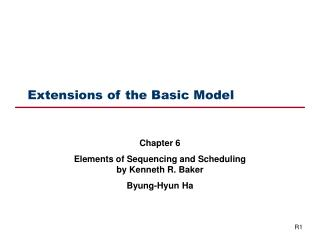 Extensions of the Basic Model