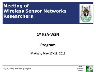 Meeting of Wireless Sensor Networks Researchers