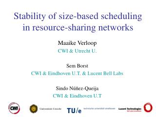 Stability of size-based scheduling in resource-sharing networks