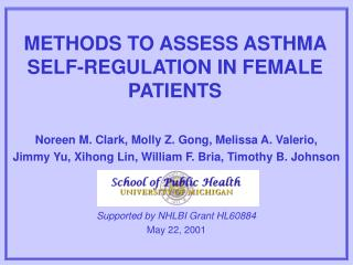 METHODS TO ASSESS ASTHMA SELF-REGULATION IN FEMALE PATIENTS
