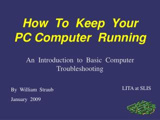 How  To  Keep  Your PC Computer  Running
