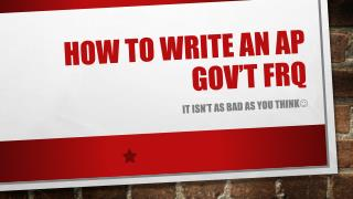 How to write an  ap  gov't  frq
