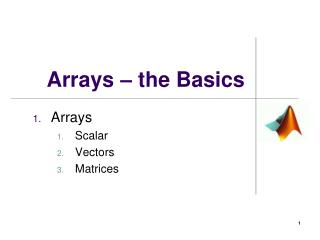 Arrays – the Basics
