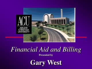 Financial Aid and Billing