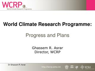 World Climate Research Programme: Progress and Plans