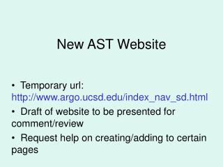 New AST Website