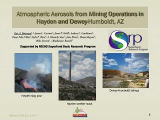 Atmospheric Aerosols from Mining Operations in Hayden and Dewey-Humboldt, AZ