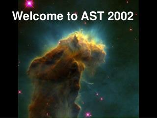 Welcome to AST 2002