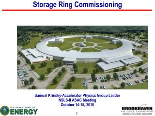 Storage Ring Commissioning