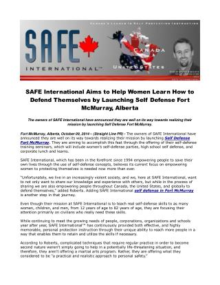 SAFE International Aims to Help Women Learn How to Defend