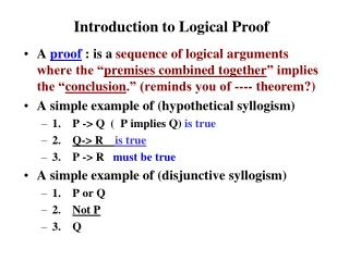 Introduction to Logical Proof
