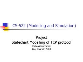 CS-522 (Modelling and Simulation)