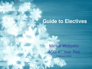 Guide to Electives