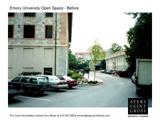 Emory University Open Space - Before