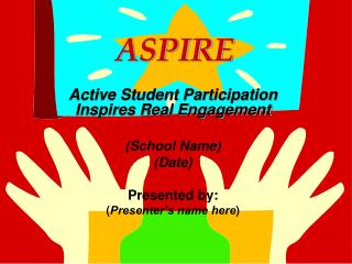ASPIRE Active Student Participation Inspires Real Engagement (School Name) (Date) Presented by: