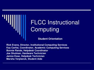 FLCC Instructional Computing