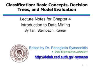 Classification: Basic Concepts, Decision Trees, and Model Evaluation
