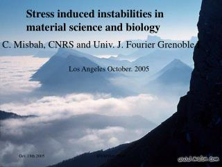 Stress induced instabilities in material science and biology