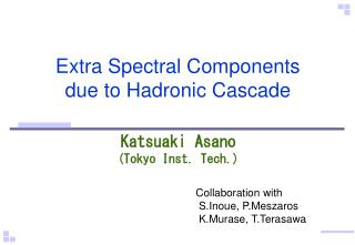 Extra Spectral Components due to Hadronic Cascade