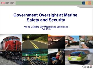 Government Oversight at Marine  Safety and Security