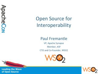 Open Source for Interoperability