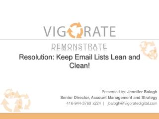 Resolution: Keep Email Lists Lean and Clean!