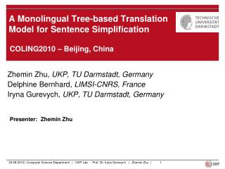 A Monolingual Tree-based Translation Model for Sentence Simplification