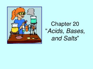 "Chapter 20 "" Acids, Bases, and Salts """