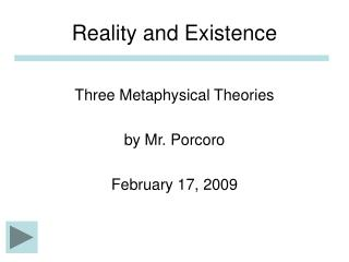 Reality and Existence