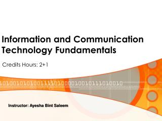 Information and Communication Technology Fundamentals