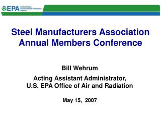 Steel Manufacturers Association Annual Members Conference