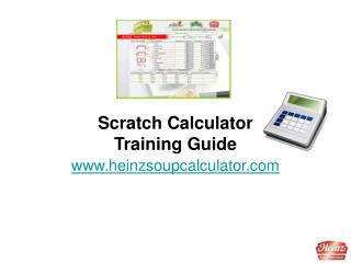 Scratch Calculator Training Guide