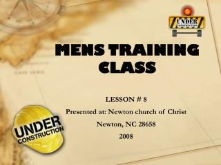 MENS TRAINING CLASS