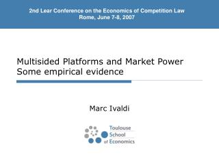 Multisided Platforms and  Market Power Some empirical evidence