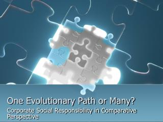 One Evolutionary Path or Many?