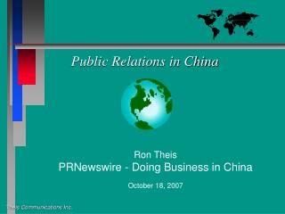 Public Relations in China