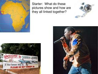 Starter: What do these pictures show and how are they all linked together?