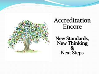 Accreditation   Encore New Standards,  New Thinking & Next Steps