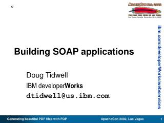 Building SOAP applications
