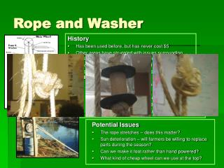 Rope and Washer