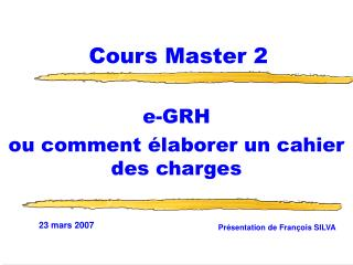 Cours Master 2