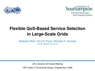 Flexible QoS-Based Service Selection in Large-Scale Grids