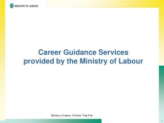 Career  Guidance Services provided by the Ministry of Labour