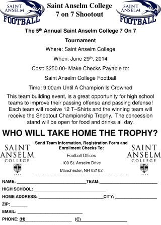 Saint Anselm College               7 on 7 Shootout