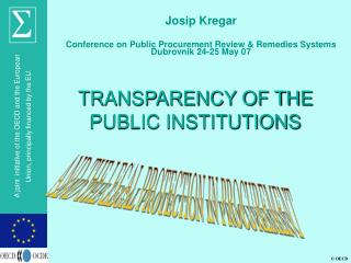 TRANSPARENCY OF THE PUBLIC INSTITUTIONS