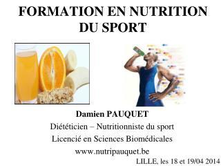 FORMATION EN NUTRITION DU SPORT