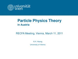 Particle Physics Theory