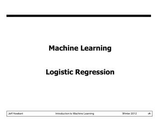 Machine Learning Logistic Regression