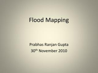 Flood Mapping