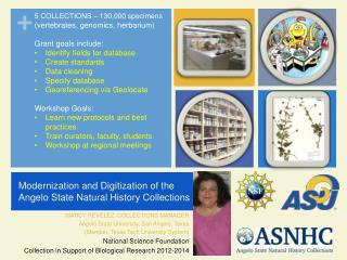Modernization  and Digitization of the Angelo State Natural History Collections